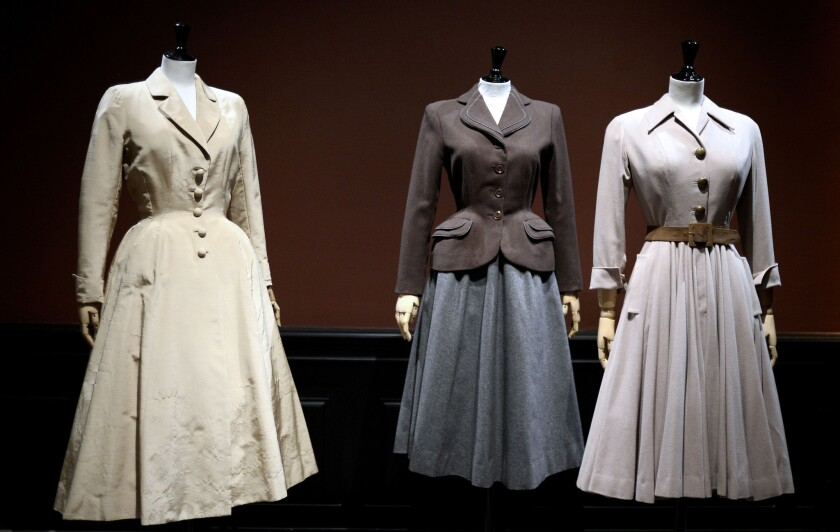 Paris Museum Exhibition Showcases Couture From 1947 1957 Los Angeles Times