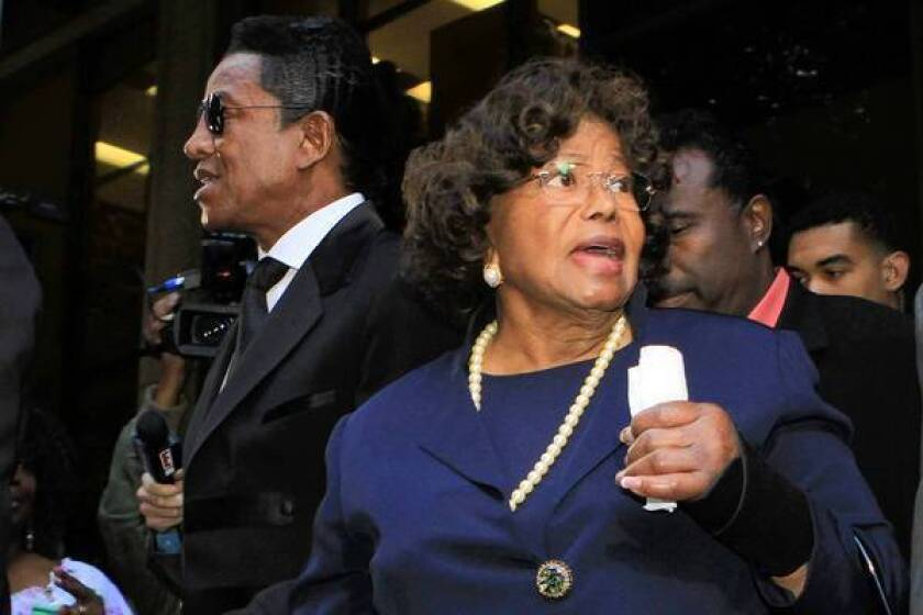 Katherine Jackson, with her son Jermaine, is shown last year. In a court declaration she described a coordinated effort to isolate her last month at a Tucson spa.