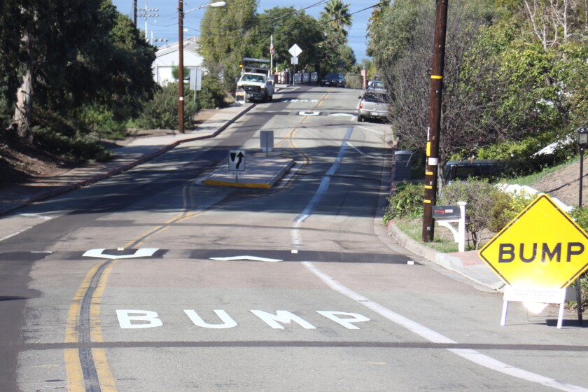 Speed humps are now in place on West Muirlands Drive.