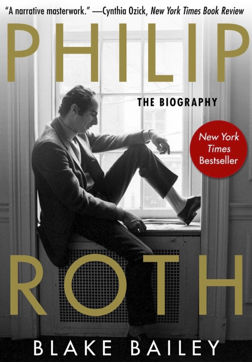 """This paperback cover image released by Skyhorse Publishing shows """"Philip Roth: The Biography,"""" by Blake Bailey. The long-awaited book about Roth that was pulled last month by original publisher W. W. Norton amid allegations of sexual assault and harassment against biographer Blake Bailey has a new publisher. Skyhorse Publishing has told The Associated Press that it will have """"Philip Roth: The Biography"""" out in paperback on June 15. (Skyhorse Publishing via AP)"""