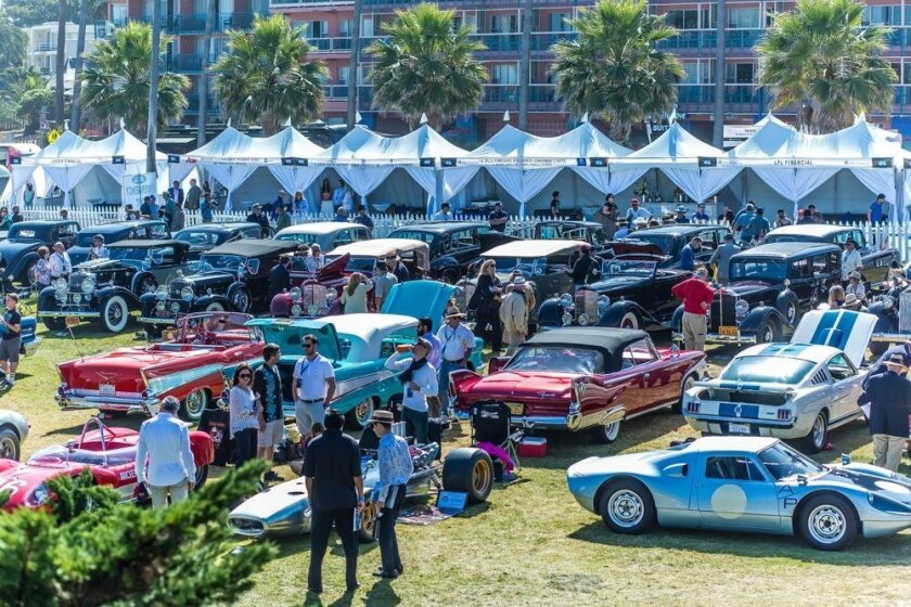 A scene from last year's La Jolla Concours d'Elegance at Scripps Park