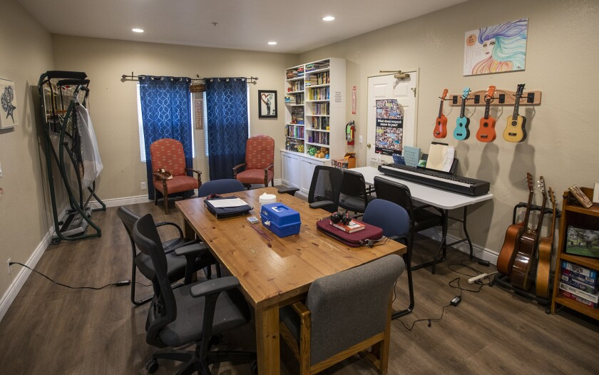 The multipurpose room at the Huntington Beach Waymakers Youth Shelter.