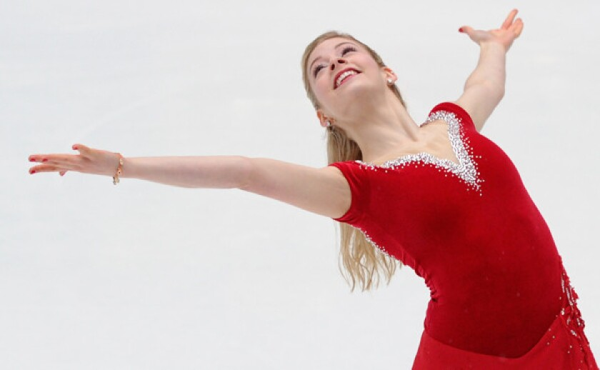 Olympic figure skater Gracie Gold performs at Rockefeller Center in New York on Jan. 14. Gold plans to leave for Sochi, Russia, on Saturday to begin her Olympics preparations.