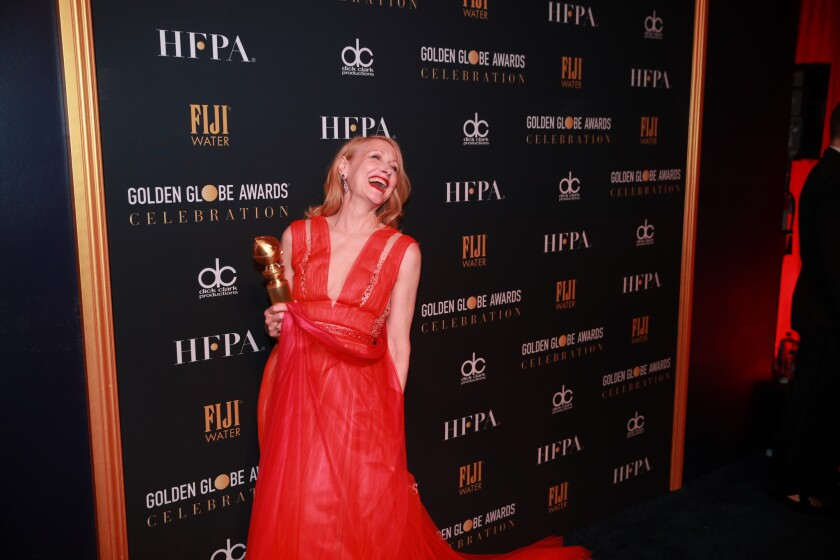 Patricia Clarkson attends the Golden Globe Awards official after-party in the Wilshire Garden at the Beverly Hilton on Jan. 6.