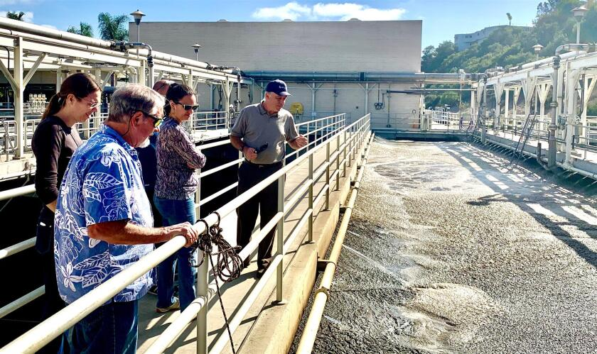 The club visited the San Elijo Lagoon Treatment Water Facility.