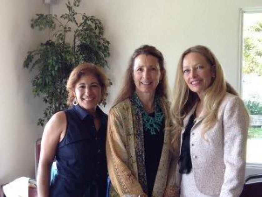 Captain Gisele Bonitz, honoree Christina Fink and Susan Leonard, supporter. Courtesy photo