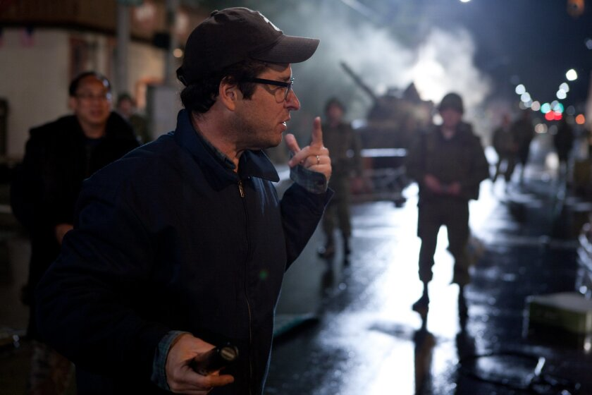 MOVIE---Director/writer/producer J.J. Abrams on the set of SUPER 8, from Paramount Pictures. Photo credit: Francois Duhamel
