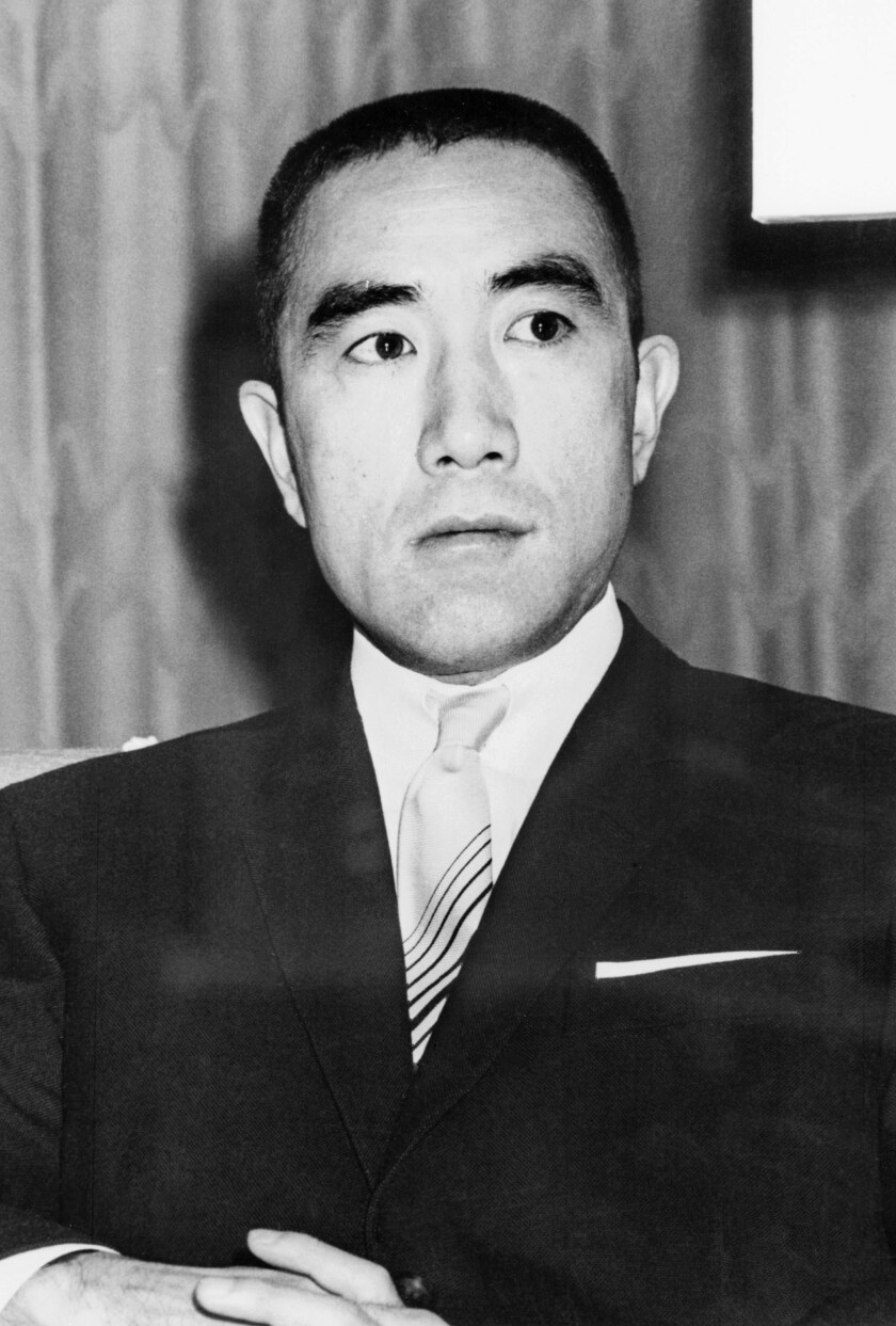 Japanese writer Yukio Mishima.