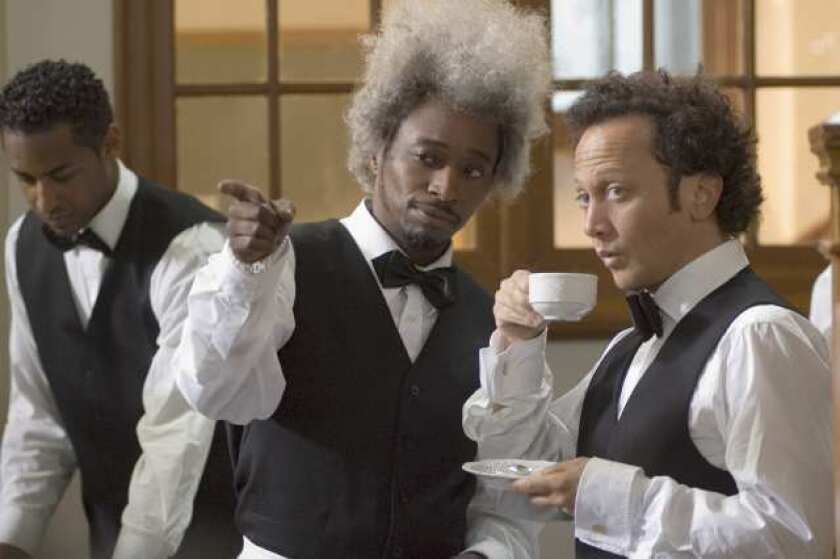 """Eddie Griffin, left, and Rob Schneider in a scene from Columbia Pictures' """"Deuce Bigalow: European Gigolo."""""""