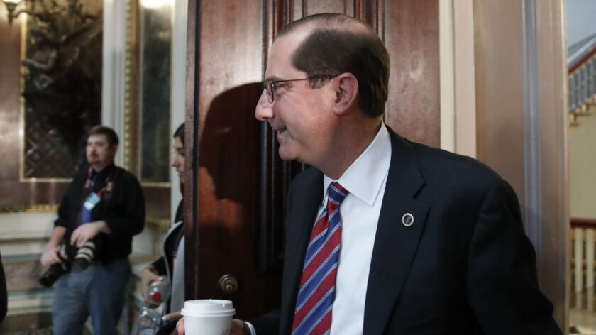 Health and Human Services Secretary Alex Azar: Shrinking Medicaid as fast as he can?