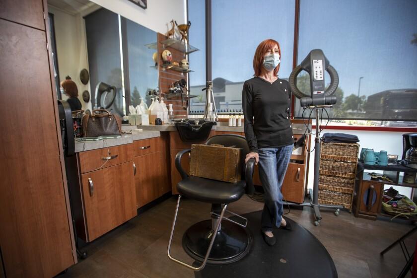 Dee Lescault, owner of MUTI Hair Design Studio in Sola Salon Suites
