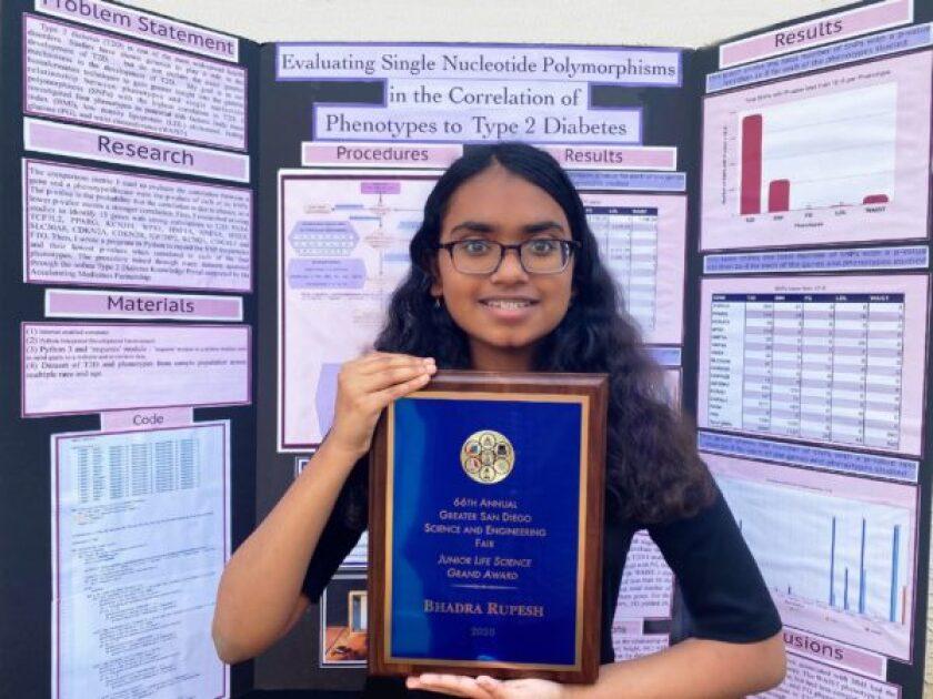 Award winner Bhadra Rupesh