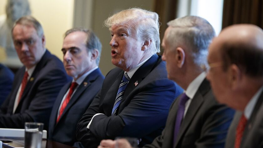Donald Trump, Ryan Zinke, David Shulkin, Jim Mattis, Wilbur Ross