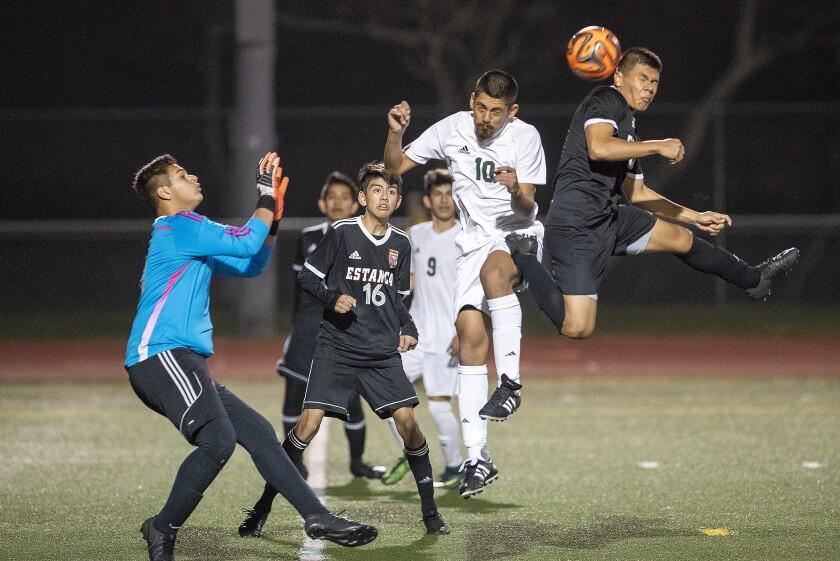 Photo Gallery: Estancia vs. Saddleback in boys' soccer