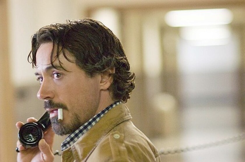 Robert Downey Jr. plays a Bay Area reporter who tracks the killer aided by the latter's own clues.