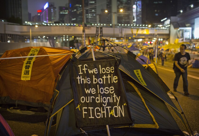 Pro Democracy Supporters Continue To Occupy Parts Of Hong Kong