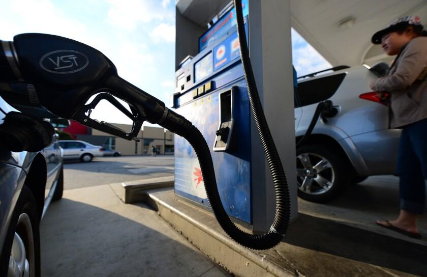A refueling station dispenses biofuel.