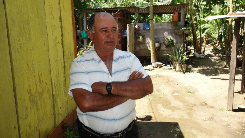 Juan Pablo Aguirre, a farmer in Filipinas, Colombia, worked with Juan Vicente Carvajal on the Commu