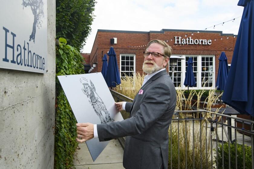 John Stephenson outside his Hathorne restaurant.