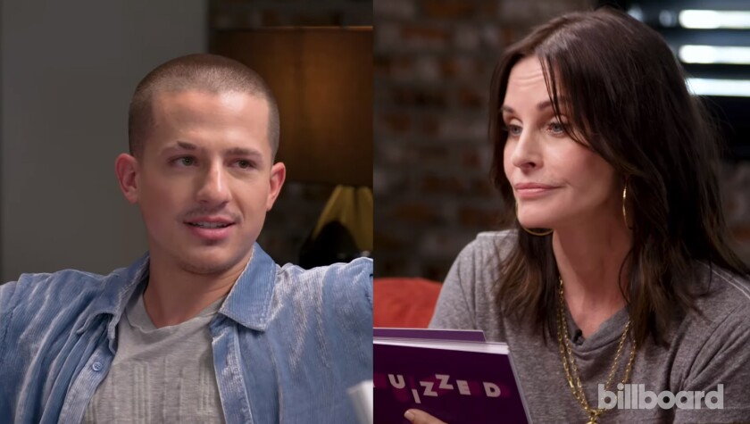 Charlie Puth and Courteney Cox