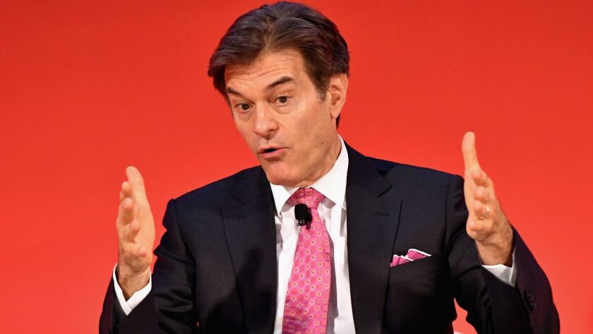 Dr. Mehmet Oz during a public appearance in New York last year.