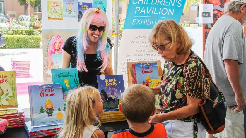 Author Sheri Fink talks to young readers at last year's The San Diego Union-Tribune Festival of Books.