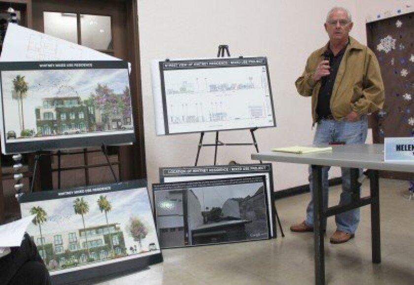 La Jolla Shores resident Bob Whitney talks about his plans to develop a mixed-use project in the Shores' commercial district.