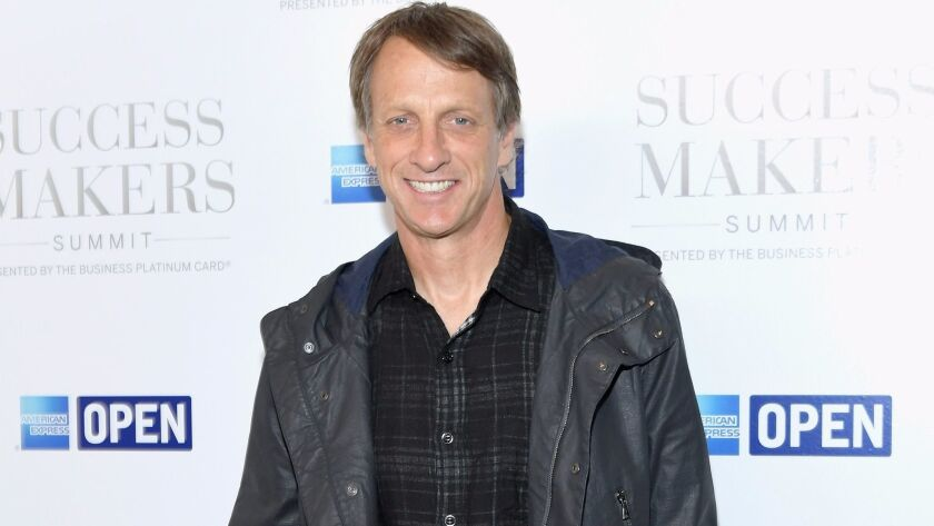Skateboarder Tony Hawk attended the 2017 Success Makers Summit on April 17, 2017 in New York City.