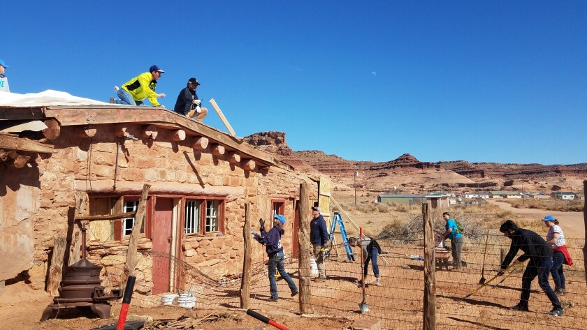People renovate a trading post in Utah.