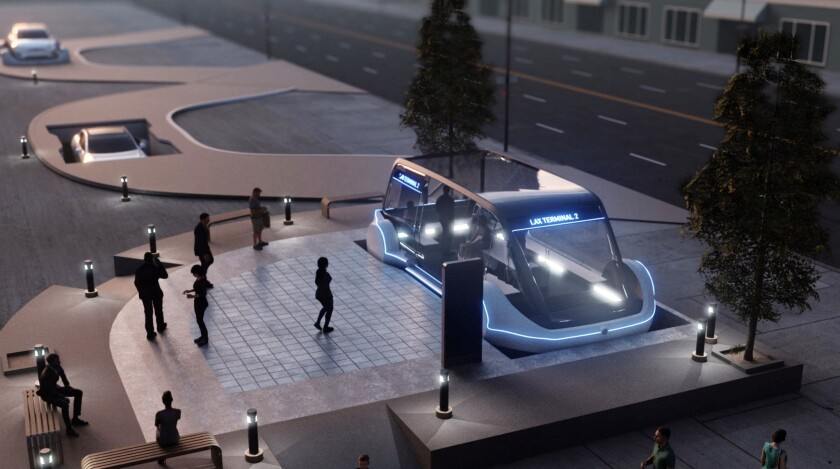 An artist rendering from The Boring Company website. Company founder Elon Musk wrote on Instagram, ""