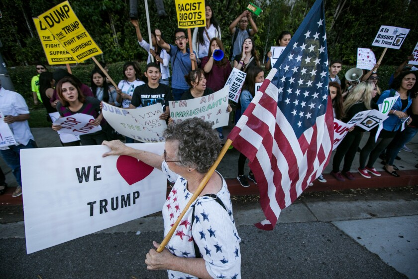 Older voters in California are more likely than younger counterparts to favor mass deportation of immigrants in the U.S. illegally, as GOP presidential front-runner Donald Trump proposes, a new poll shows.