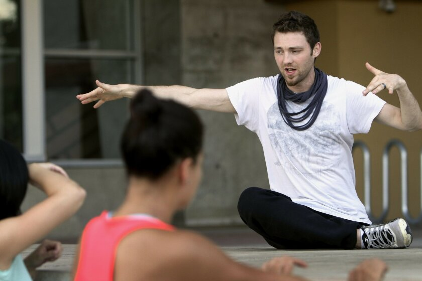 Choreographer Kyle Sorensen works with dancers selected for Trolley Dances, to be performed over two weekends.