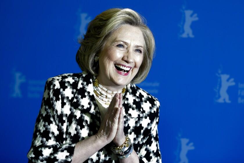 Former Secretary of State Hillary Clinton attends the Berlin International Film Festival in February.
