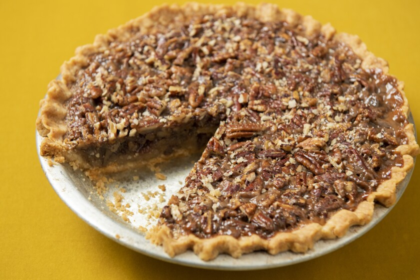 Bourbon Pecan Pie with No-Roll Crust