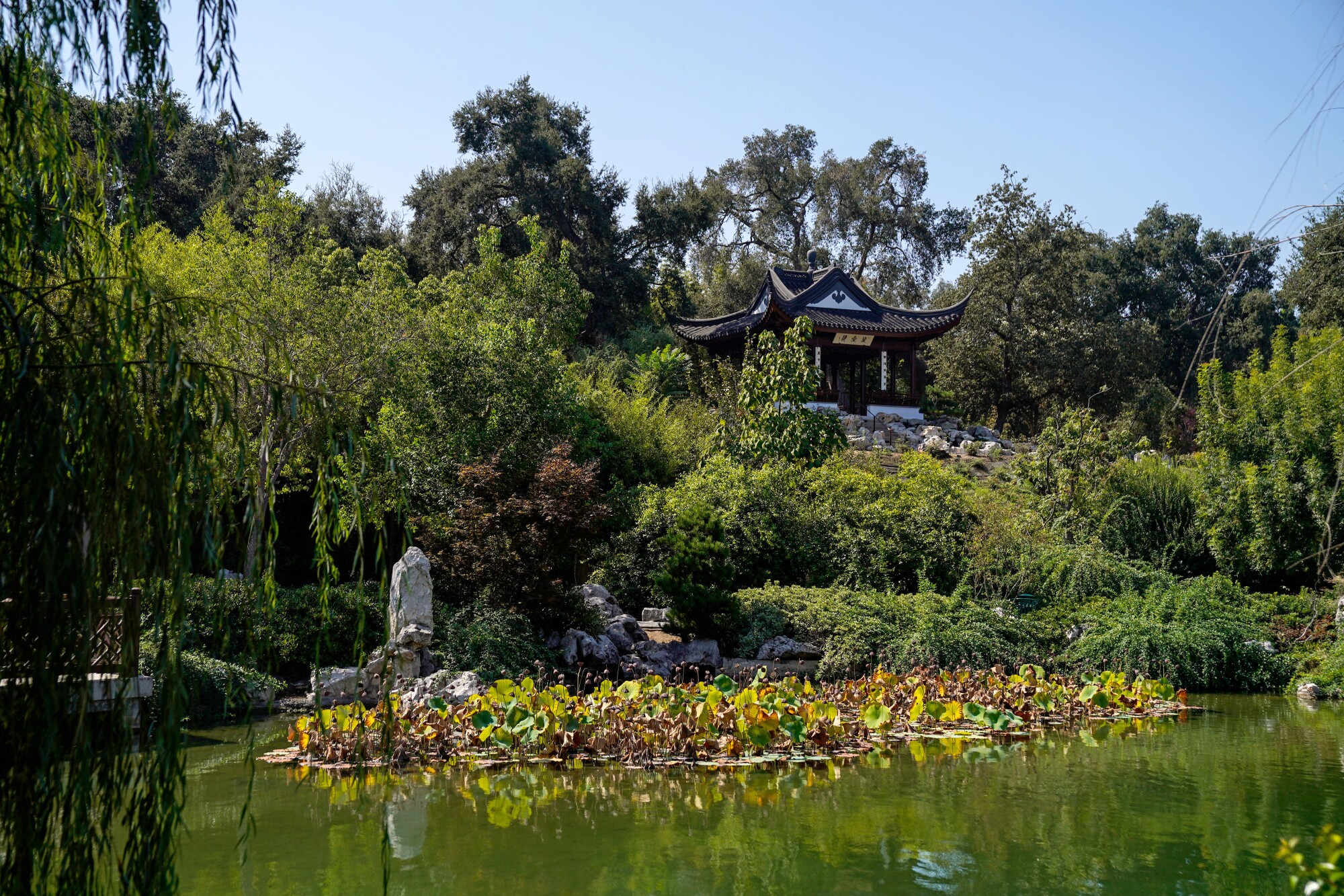 The Stargazing Tower in the new Chinese Garden at the Huntington Library, Art Museum, and Botanical Gardens.