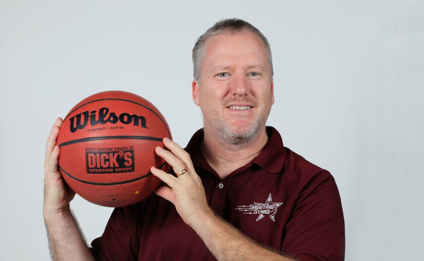 Portrait of Rick Clark, coach and one of the founders of the Shooting Stars Special Needs Basketball League.