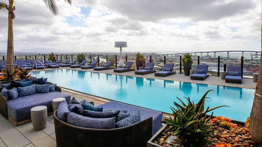 SAN DIEGO, CA February 23rd 2018   This is the pool area and view on the 18th of the Alexan ALX luxu