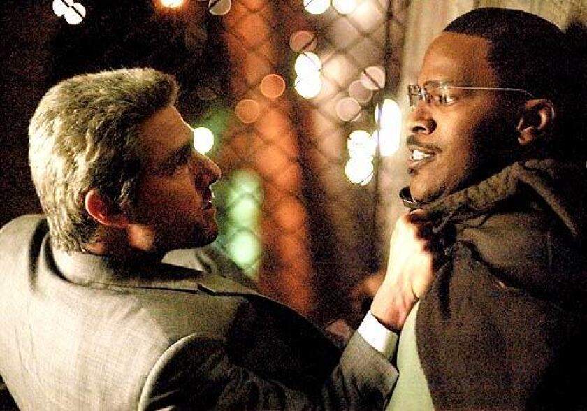 """Tom Cruise, left, and Jamie Foxx in the movie """"Collateral."""""""