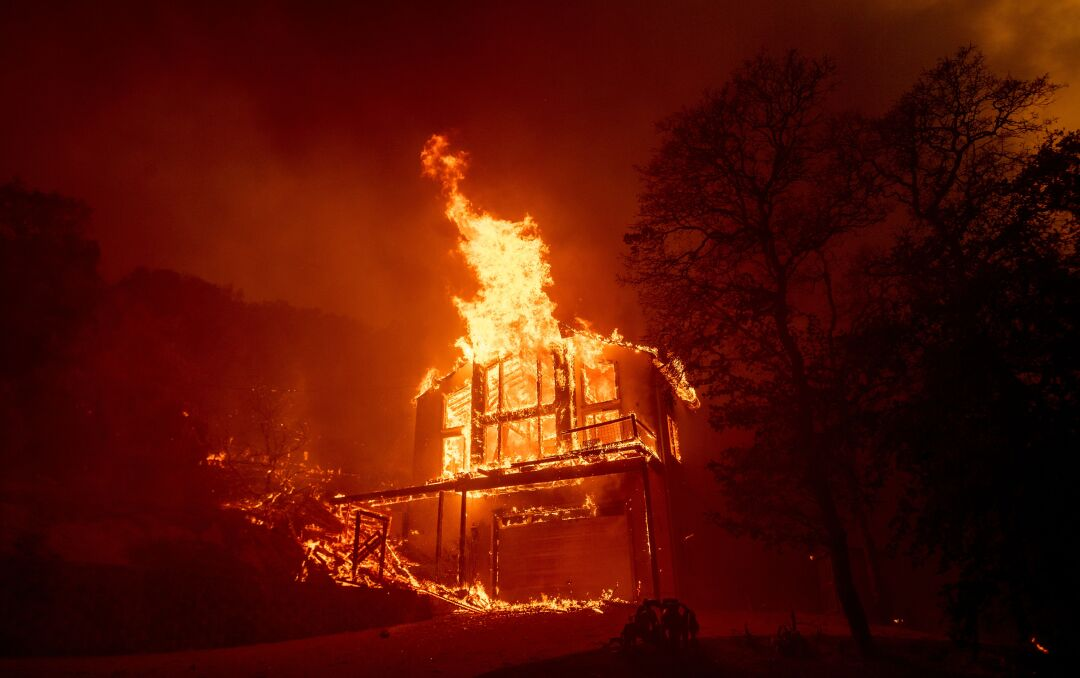 A home burns in Napa County.