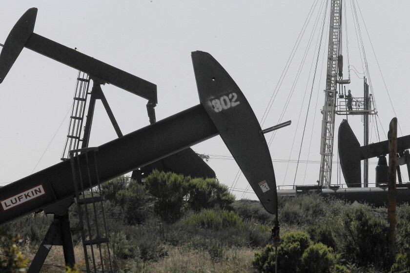 The Inglewood oil field in Culver City. The U.S. will resume oil and gas leasing in California after a new report found little scientific evidence that fracking harms the environment.