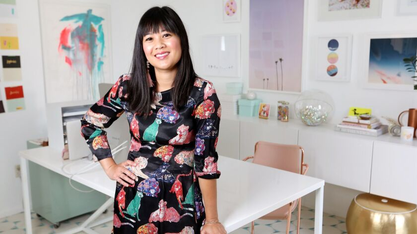 LOS ANGELES, CALIF. -- WEDNESDAY, JULY 11, 2018: Designer Joy Cho, founder of the whimsical and joy-
