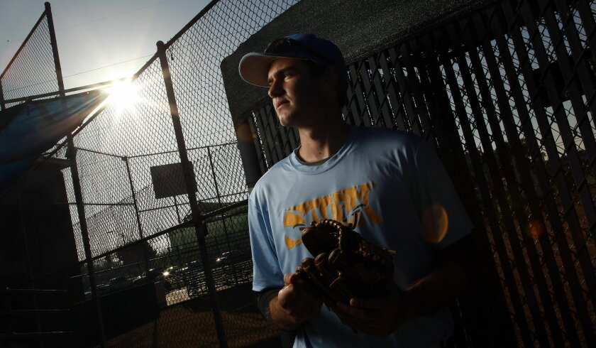 San Diego High Tech's Jonathan Worley didn't require Tommy John ligament-replacement surgery and instead has undergone rehab on his pitching arm.