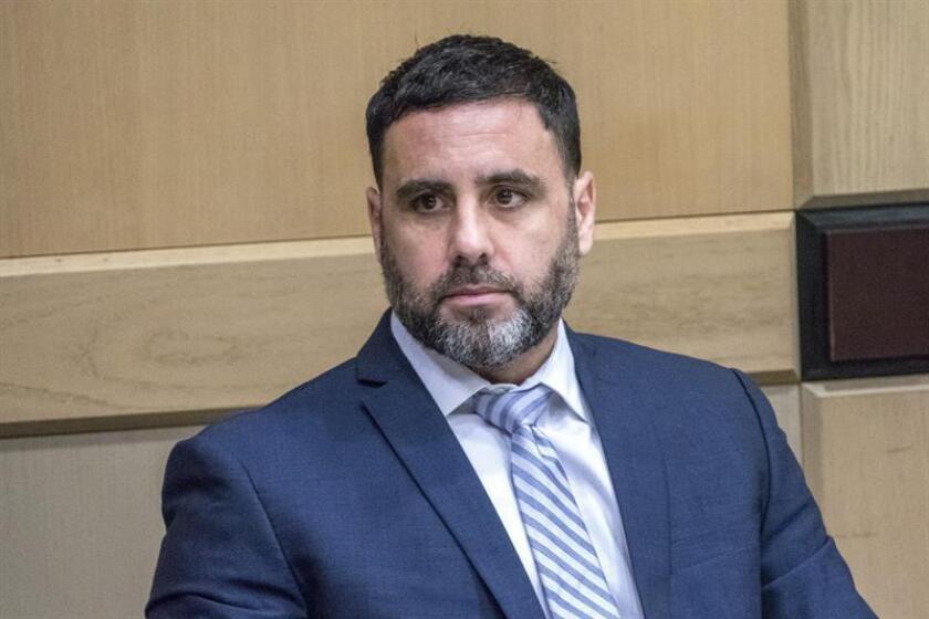 El hispano-estadounidense Pablo Ibar comparece hoy en el tribunal estatal de Florida en Fort Lauderdale (EE.UU.). EFE
