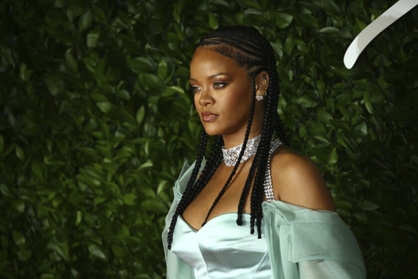 Singer Rihanna at the British Fashion Awards in 2019.