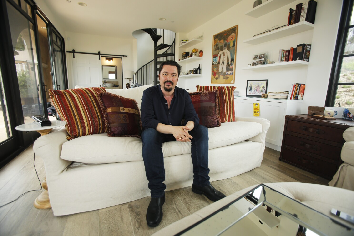 Screenwriter James Vanderbilt's home office leaves room for play