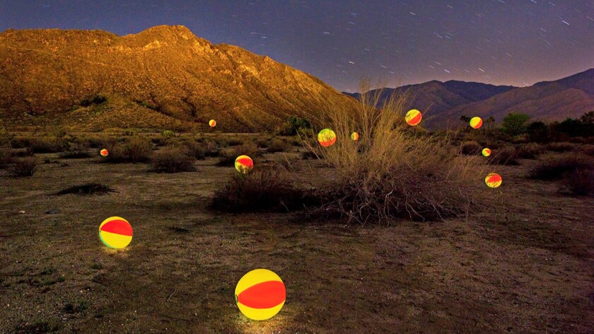 """Desert Fun,"" 2015, by Tom Wheeler — part of ""Play: Open Call 2016,"" is at the L.A. Municipal Art Gallery."
