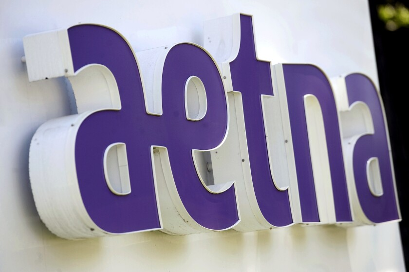 Aetna is seeking to merge with Humana in one of the two proposed health insurance mega-mergers facing state and federal scrutiny; the other deal would combine Anthem and Cigna.