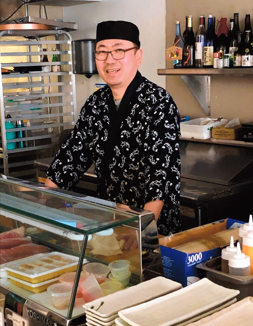 Nak Joon Kim is the owner and chef of Haru Sushi, 7441 Girard Ave., La Jolla. Hours: Lunch 11:30 a.m. to 3 p.m. Tuesday-Friday; and dinner 5-8 p.m. Monday-Sunday. (858) 329-7800.