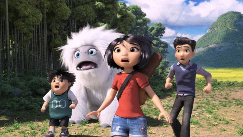Box office: 'Abominable' is the biggest opening of the year for original animation