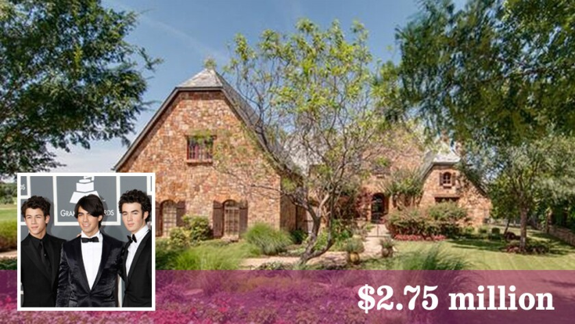 Set on nearly three-quarters of an acre, the Jonas Brothers' house in Westlake, Texas, blends Southwestern Traditional, Craftsman and Mediterranean styles.